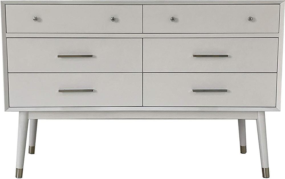 dresser, retro style dresser, white dresser, bedroom furniture