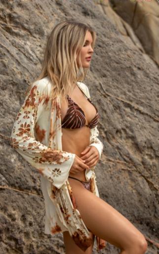 Brown Tie Dye Kimono
