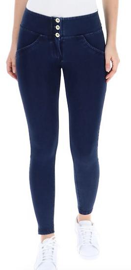 High Waist Skinny Blue Pants