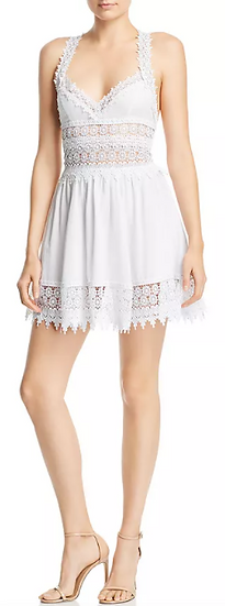 White Lace Mini Dress (Also Available in Black)