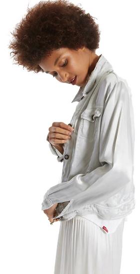 Silky Dove Jean Jacket
