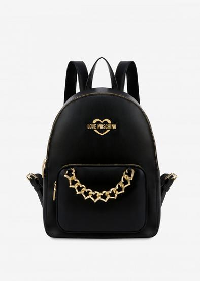 Hearts Chain Black Backpack