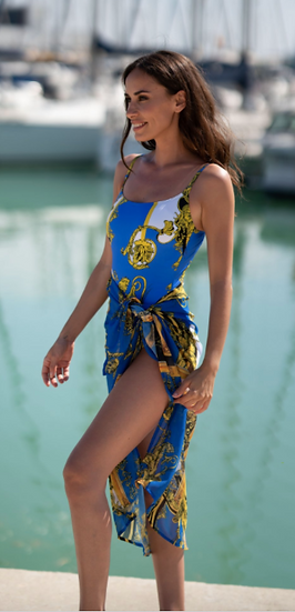 Bacalas Blue Pareo - Coverup