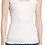 Thumbnail: Basic Ribbed Lace Tank in Creme