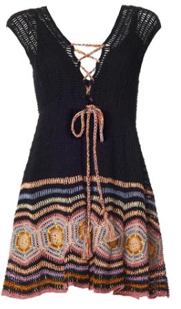 Crochet Black Janis Mini Dress