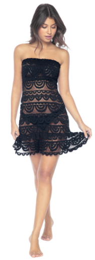 Black Lace Tube Dress (Also Available in White)