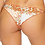 Thumbnail: Ribbed Floral Ruched Back Bikini Bottom
