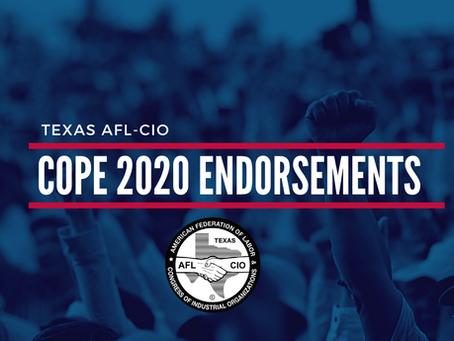AFL-CIO 2020 Endorsements