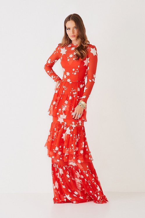 Vestido longo Samara red Star Fabulous Agilita
