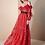 Thumbnail: Vestido longo renda francesa vermelho Skazi