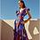 Thumbnail: Vestido longo estampado Skazi Sclub azul