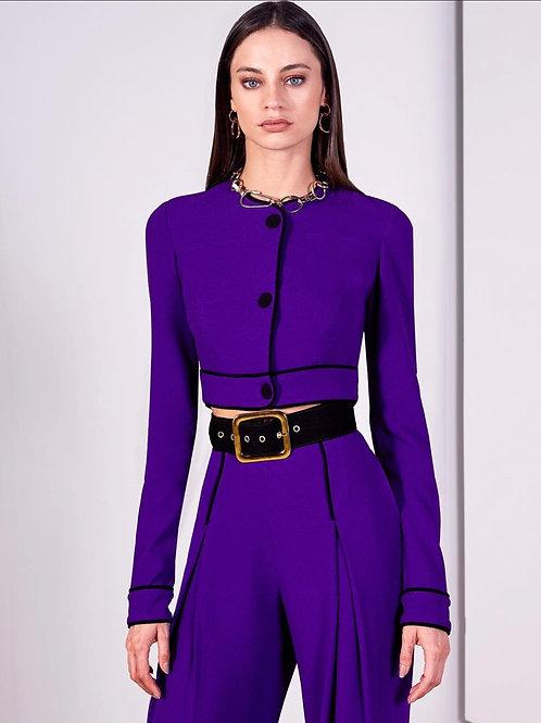 Blusa manga longa violeta Skazi