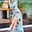Thumbnail: Cropped estampa Carolina Lily azul PatBo