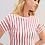 Thumbnail: Blusa meia manga listra vermelha Sclub Skazi