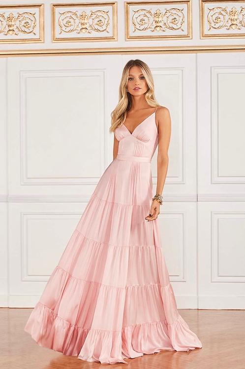 Vestido longo vitória rosa Fabulous Agilita