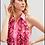 Thumbnail: Camisa babadinhos botões cristais rosa pesponto preto Skazi Sclub