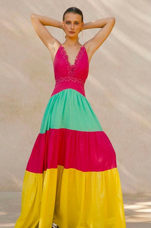 Vestido multicolor PatBo