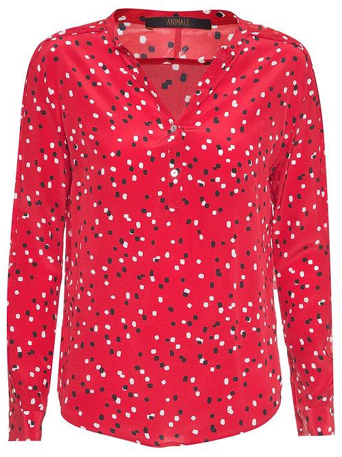 Camisa Animale Mix Tecido - Vermelho