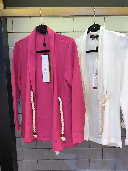 Blazer detalhe corda rosa pink PatBo