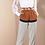 Thumbnail: Blusa em organza bordada off white Skazi