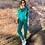 Thumbnail: Conjunto blusa e calça tricot verde Skazi