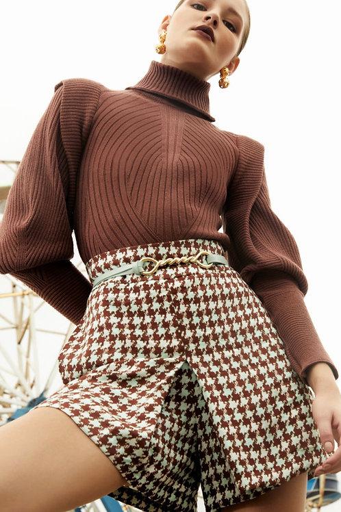 Blusa pull tricot marrom - Iorane