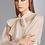 Thumbnail: Blusa laço detalhe plissado off white Skazi Sclub