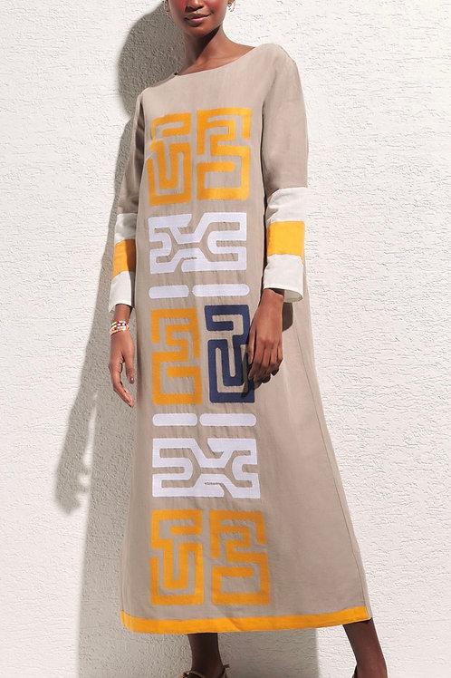 Vestido longo bordado Leona Nammos