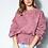 Thumbnail: Blusa moletom aplicação renda rosê Skazi