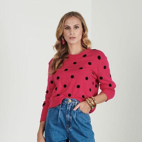 Blusa tricot poá rosa - Iorane