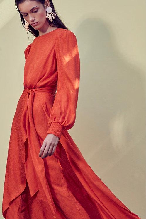 Conjunto blusa e calça saia laranja Skazi Sclub