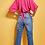 Thumbnail: Blusa botões e amarração pink Skazi Sclub