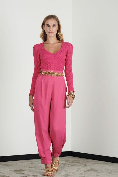 Blusa ombreiras tricot rosa - Iorane