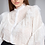 Thumbnail: Camisa detalhe renda e babados off white Skazi Sclub