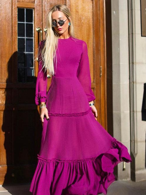 Vestido longo plissado Fabulous Agilita