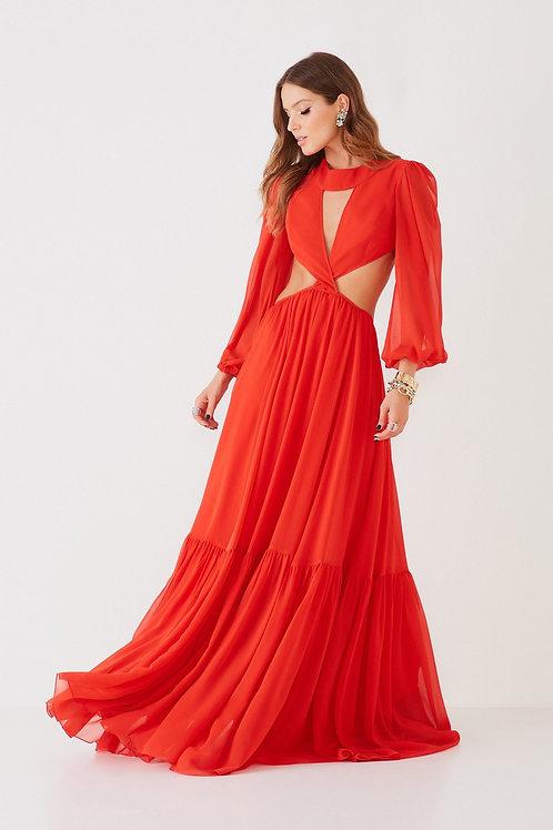 Vestido longo Eduarda vermelho Fabulous Agilita