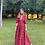 Thumbnail: Vestido longo saia camadas estampado Skazi S