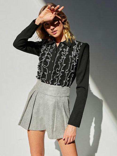 Camisa babadinhos preto Skazi Sclub