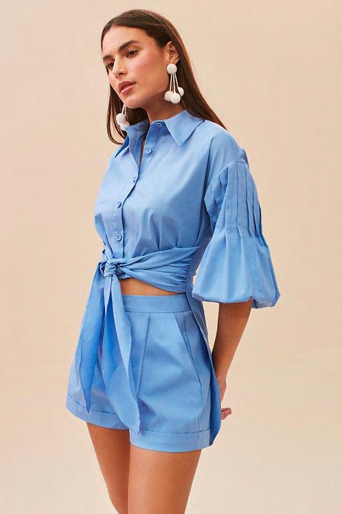 Conjunto blusa e short azul Skazi Sclub