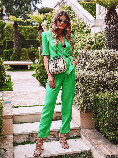 Blazer detalhe botões verde Skazi Thassia Naves