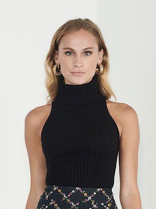 Blusa tricot gola alta preta - Iorane