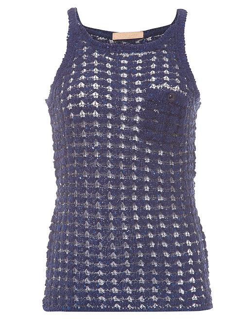 Regata de casaquete Tutka  Carol Bassi - Azul marinho