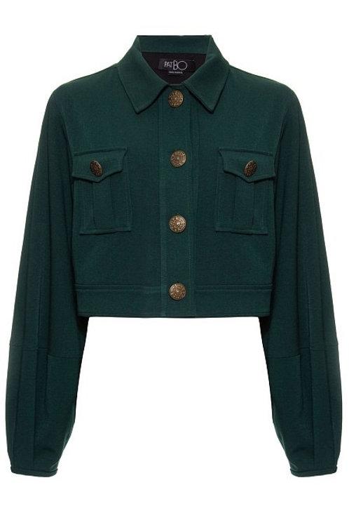 Casaco jaqueta botões york 2 verde escuro PatBo