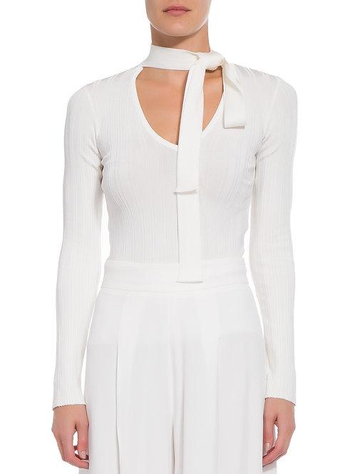 Blusa tricot laço Animale off white bazar