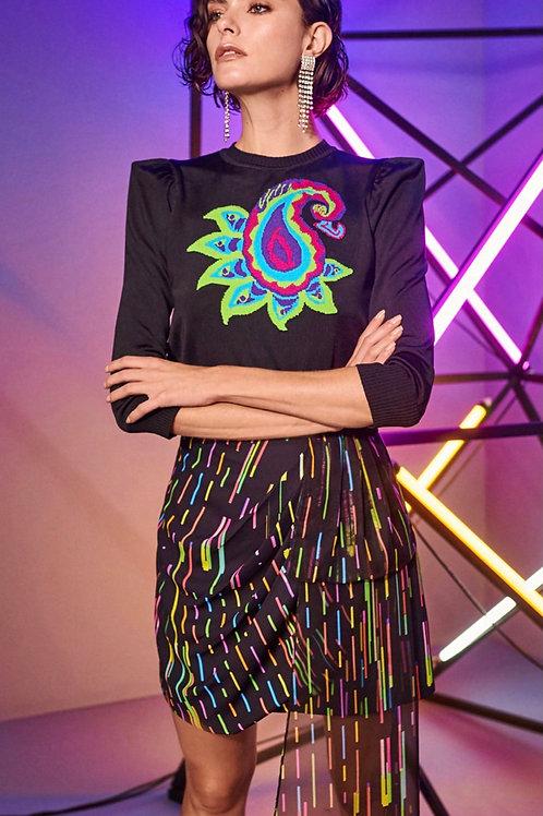 Blusa tricot estampa neon Skazi Sclub