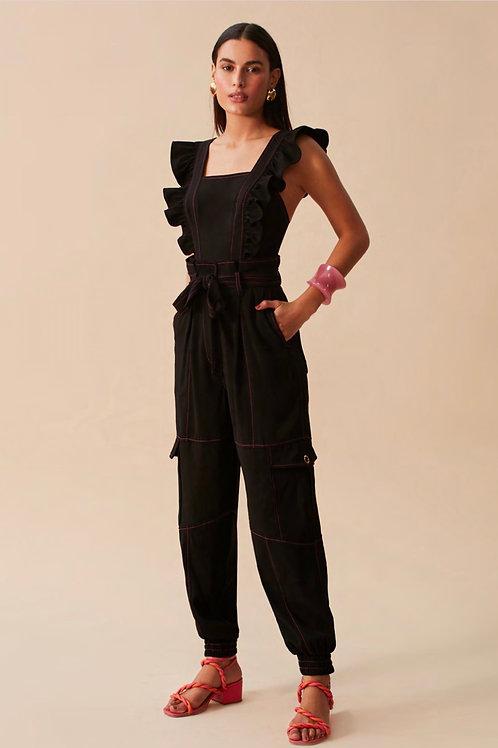 Conjunto blusa e calça presponto preto Skazi Sclub