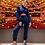 Thumbnail: Conjunto de calça e blusa em tricot Skazi azul marinho Thassia Naves