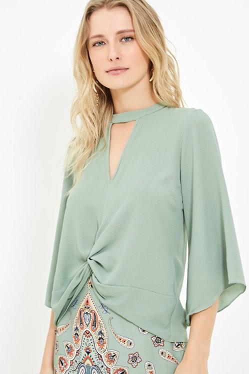 Blusa torcida verde Ateen