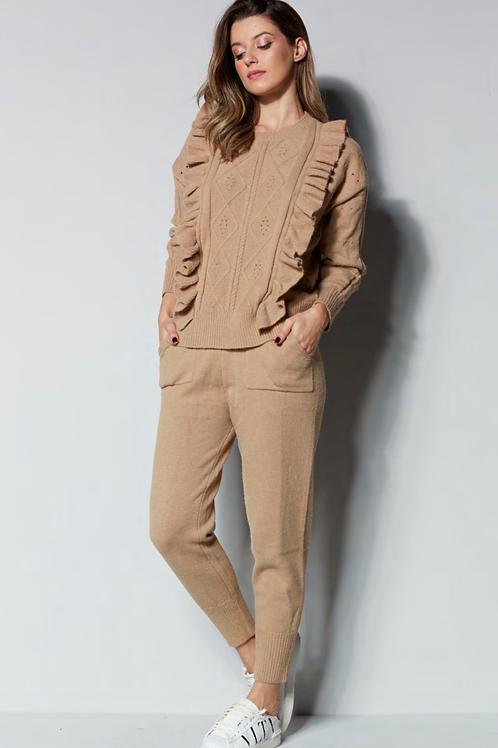 Conjunto blusa e calça tricot nude Skazi