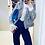 Thumbnail: Casaqueto em tweed azul claro multicolor Skazi Sclub
